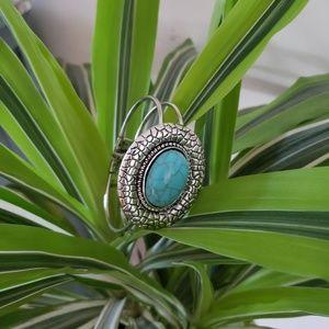 NWOT Silver turquoise bangle bracelet